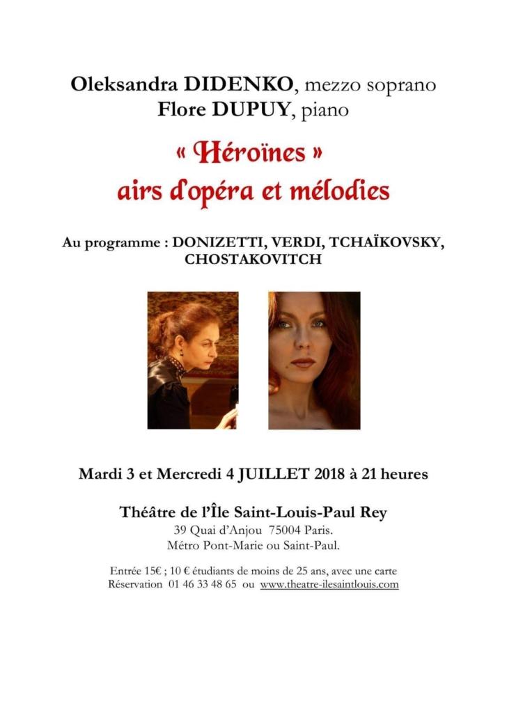 Théâtre de l'ïle Saint-Louis Paris - Mezzo-Soprano